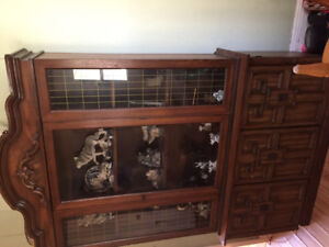 Antique furniture, washer, dryer and small freezer for sale.