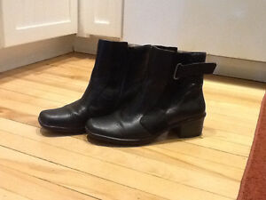 Short Black Leather Boots