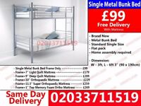 ***WOW OFFER Single Metal Bunk Bed*** El Toro