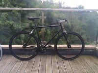 Dunlop Track Bike Black Single Speed Fixie, Charge, Sugino