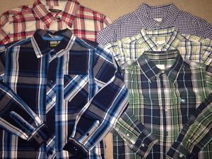 5 Really Nice Shirts for your little man sz 10 EUC
