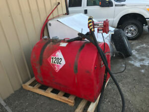 DIESEL SLIP TANK WITH PUMP AND NOSEL