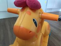 Playskool giraffe ride on rocker and seat