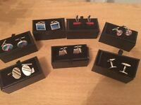 Cuff links / silver plated