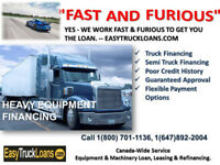 QUICK LOAN FOR USED TRUCK, OFFICE/MANUFACTURING EQUIPMENT
