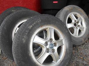 Hyundai santa fe tires and rims