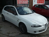 ALFA ROMEO 147 1.6TS COLLEZIONE 3 DOOR SPORTS ICE WHITE WARRANTY FINANCE