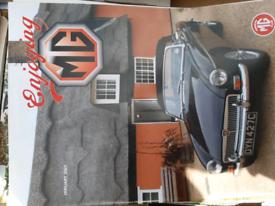 MG car magazines .