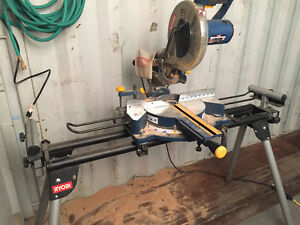 "10"" sliding mitre saw with stand"