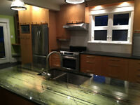 contemporary full kitchen (cabinets, countertop & appliances)