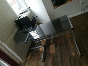 Glass desk - a beautiful and classy addition to any office