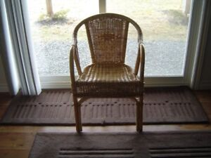 natural wicker chair