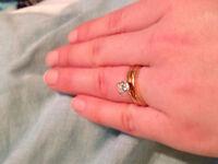 Diamond Solitaire wedding/engagement set $3500 OBO
