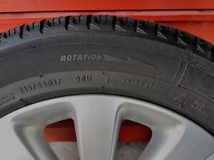 4 Extra Load Michelin Winter Tires with Rims