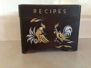 Recipe box with Rooster