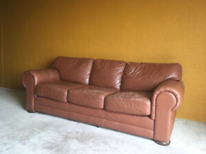 Free Large Leather Couch