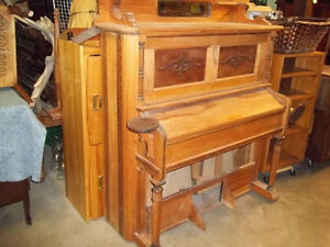 #greenspotantiques Antique cherry wood organ, now being made int