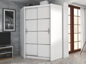 Corner Wardrobe VISTA White