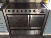 Belling range style stainless steel double oven
