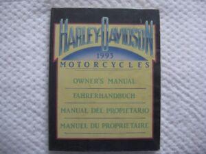 MANUEL DU PROPRIÉTAIRE HARLEY DAVIDSON 1993