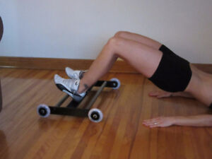 exercise, abs, hamstring, glute, roller,