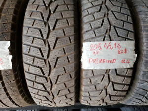2 winter Tires 205/55 R16 ***JUST $40 ***