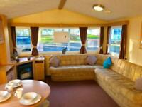 Double Glazed & Heated 3 bed caravan for sale on 12 month pet friendly park