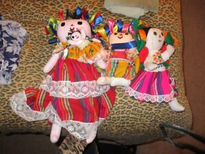 Handmade Mexican Dolls $2. each 40 in total all sizes, South Sur
