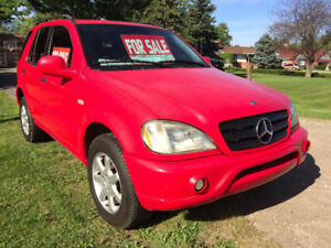 1999 ML430 BENZ RED
