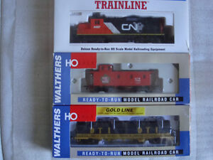 Model Train HO scale WALTERS CN EMD GP9M,Caboose and Coil  car