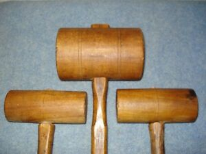 Antique Wood workers Wood Mallets
