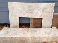 ITALIAN MARBLE FIREPLACE AND HEARTH