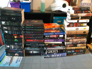 Books! Lots of vampire and supernatural type Books!