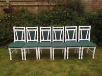 X6 shabby chic dining chairs