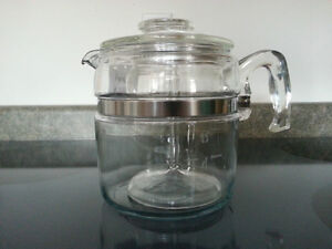 Vintage PYREX Flameware Percolator Coffee Pot