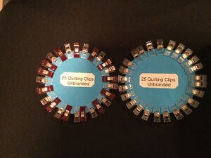 50 Clips - 25 Red/Clear & 25 Clear Unbranded Wonder Clips quilti