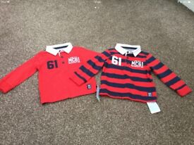 Boys rugby shirts 9-12 months x 2