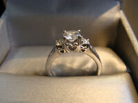 1 Ct 14KWG, engagement ring