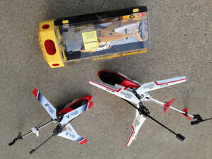 3 radio helicopters plus more