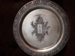 Vintage Collectable 1865-1890 Silver Plated Platter