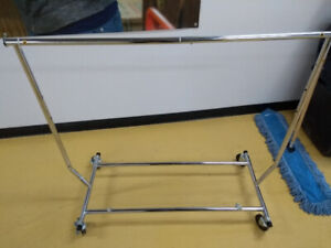 Rolling Clothes Rack $20 OBO
