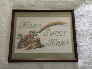 Home Sweet Home needle point