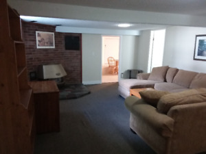 Quite Mature All Inclusive Furnished Basement Apartment