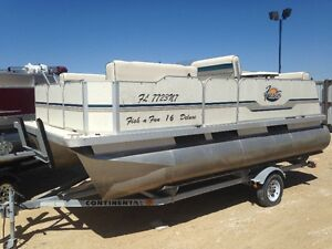 2008 Fiesta 16ft pontoon/trailer