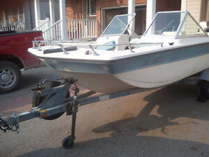 Bow Rider Boat with 70HP Evinrude