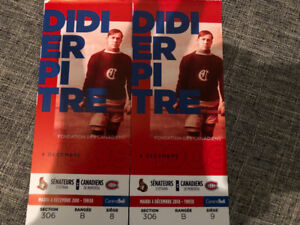 Billets Canadiens vs Ottawa Dec 4