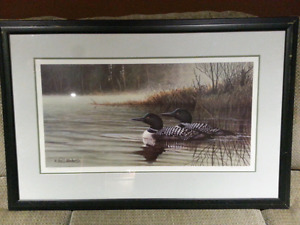 Neil Blackwell loon print