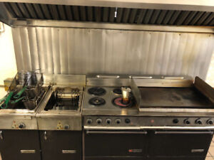 Commercial fryer and grill