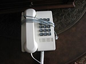 Large Numbered White Phone-works well