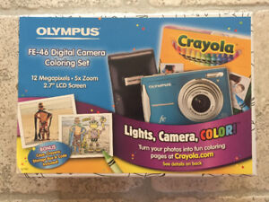 Olympus FE-46 Digital Camera Coloring Set, Never used (Blue)